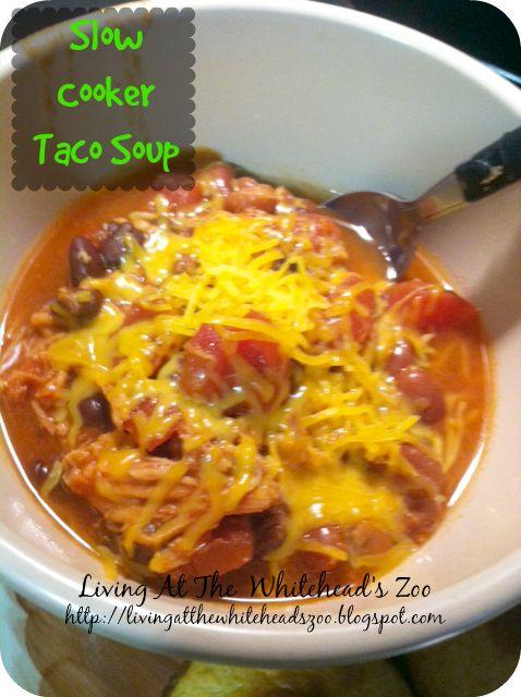 Slow Cooker Taco Soup | Recipe Swap | Pinterest