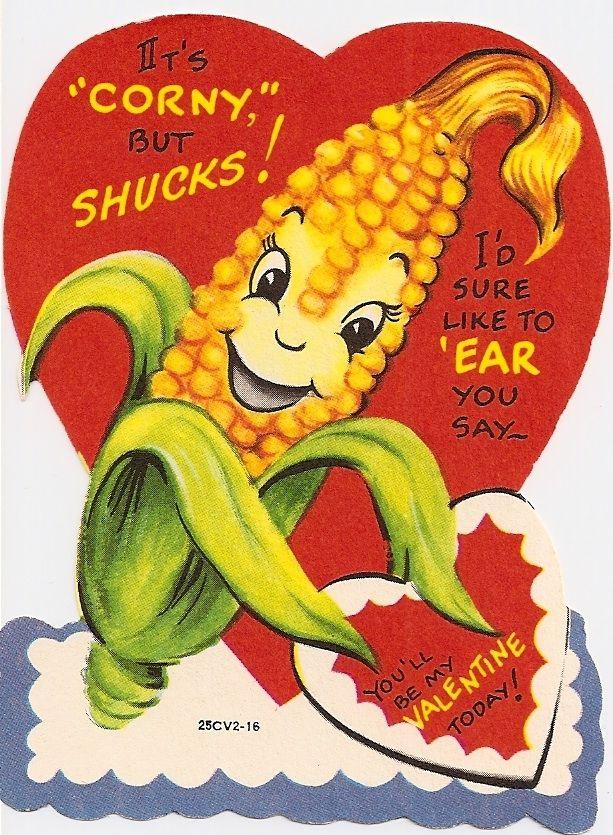 Vintage Valentine Ear Of Corn Vintage Valentine Cards