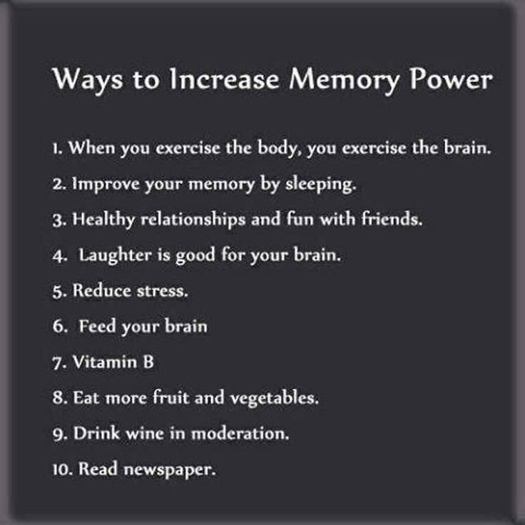 how to develop my memory power