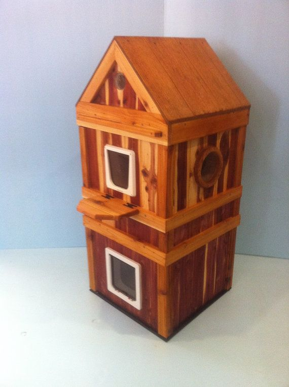 Outdoor 2 1/2Story Heated Cedar Cat House bed shelter by stabob, $799 ...