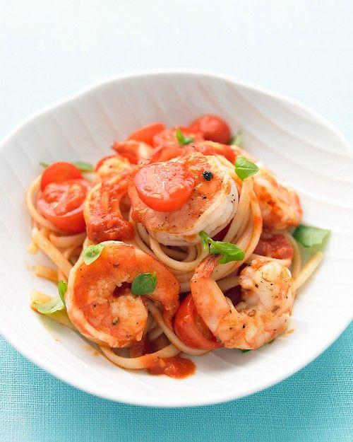 Shrimp, Tomato, and Basil Pasta = super easy, super delicious ...