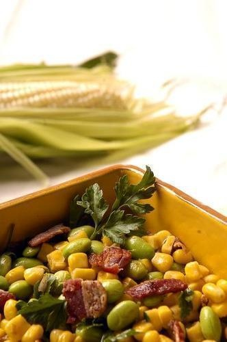 Autumn Succotash with Gruyère Grits - even grits get into the fall ...