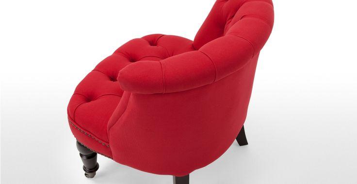 Bouji un fauteuil rouge tudor et noir canap s et - Fauteuil rouge et noir ...