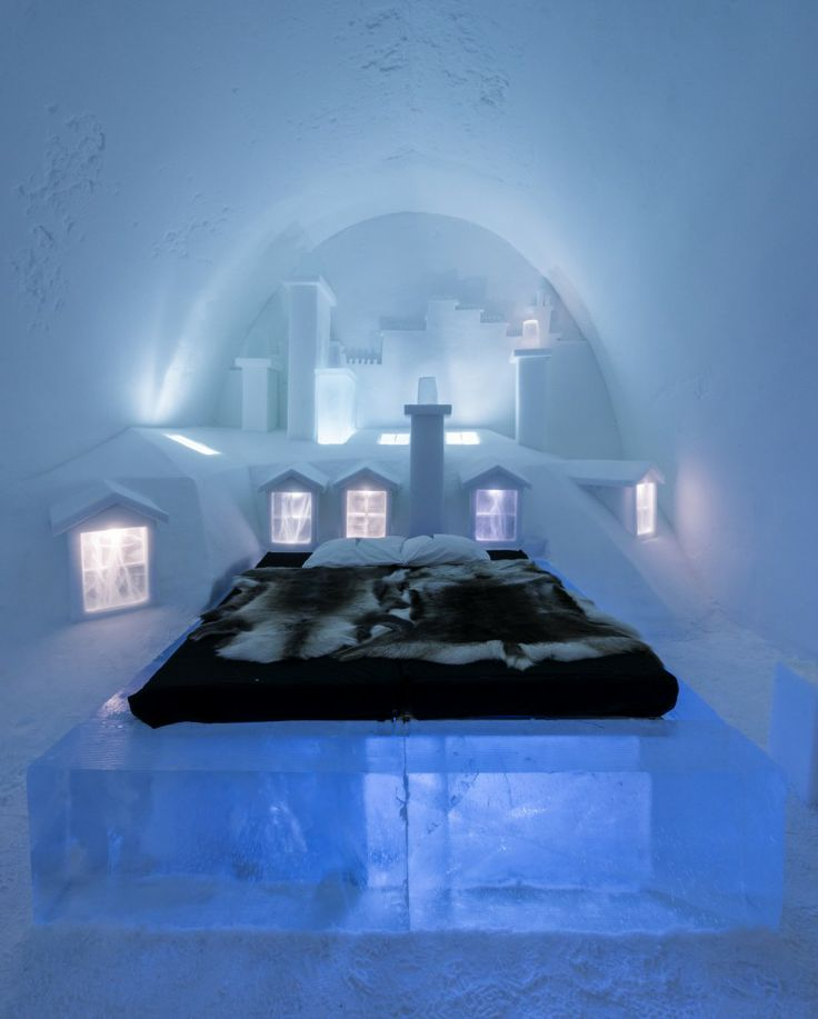 Sweden 39 s ice hotel hotel bedrooms pinterest for Chambre de reve