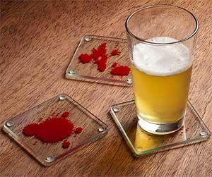 Dexter Blood Sample Coasters OMG