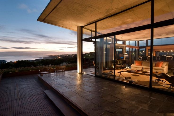 stone patio and open living
