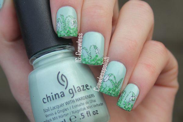 Nail art march 1 dotticure 10 little fingers went awww