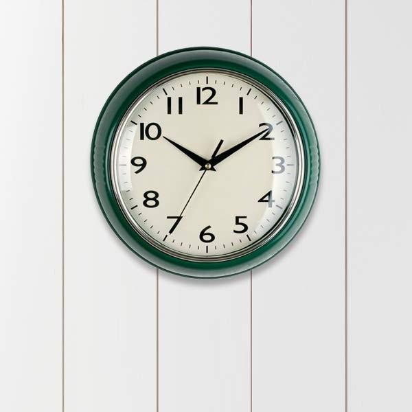 Dark green wall clock nesting instincts pinterest for Green wall clocks uk