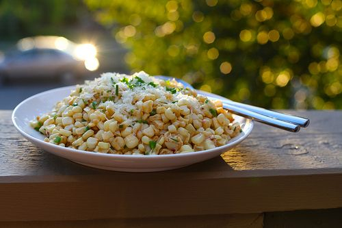 Roasted Corn with Manchego & Lime | Veggie Recipes | Pinterest