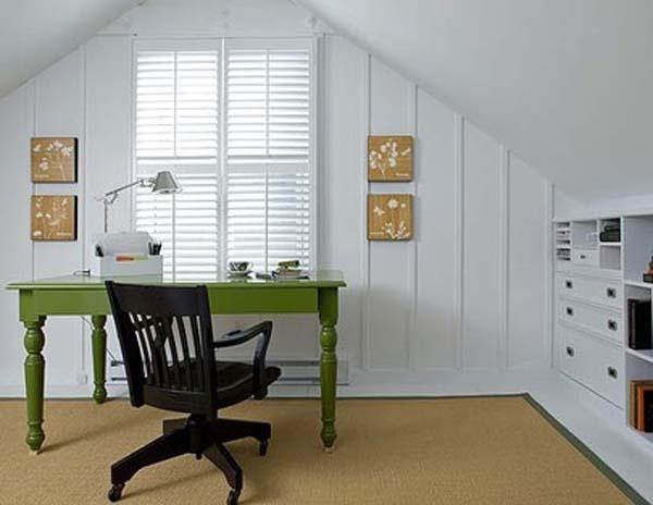 Small Attic Office Shelves Built Ins Pinterest