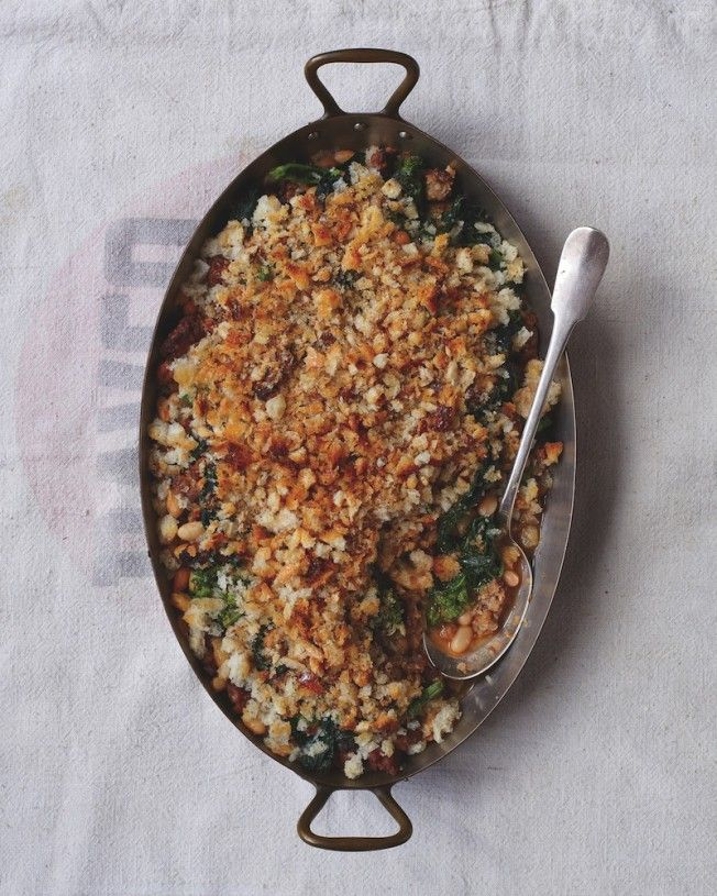 Sausage and White Bean Gratin from the Keepers cookbook