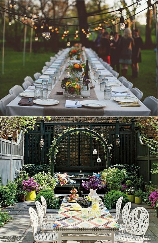 more garden rehearsal dinner ideas