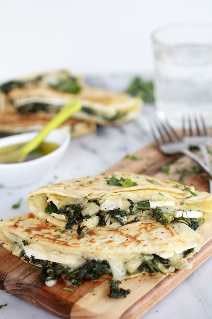 Spinach Artichoke and Brie Crepes with Sweet Honey Sauce - Half Baked ...