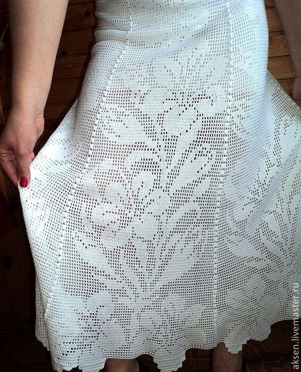 Филейное вязание юбка крючком 24