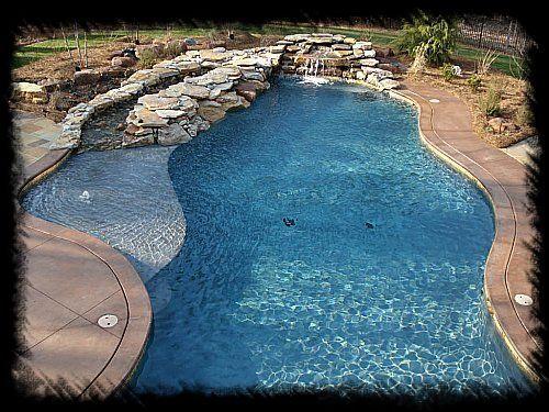 Custom Swimming Pool With Lagoon  Pool ideas  Pinterest