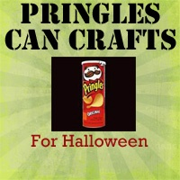 Halloween craft ideas using Pringles cans.