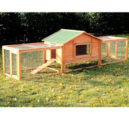 Double Rabbit Hutch With Run Animal Ideas And Tips