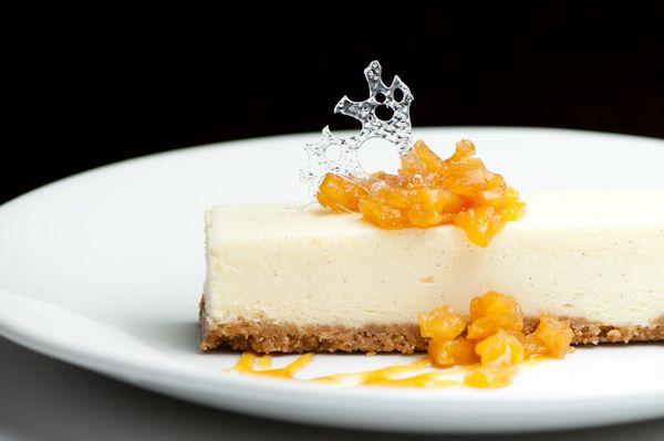 Creme Fraiche Cheesecake and Honey-Sage Roasted Pineapple