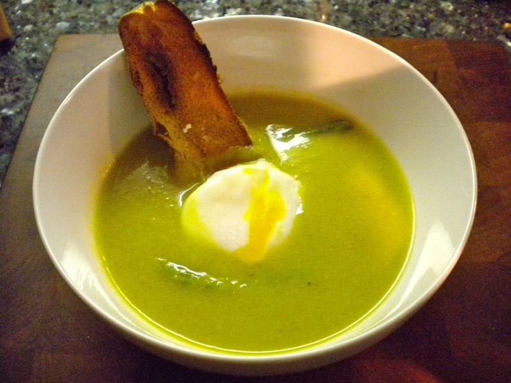 Asparagus soup with poached egg | Ad Hoc-The Keiser's Food Blog-Dishe ...
