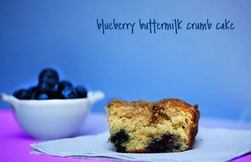Blueberry Buttermilk Crumb Cake | Cakes and Cupcakes | Pinterest