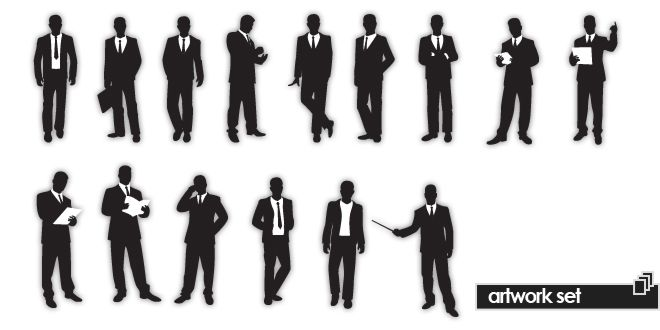 Businessman Silhouettes | Image Management Center | Logo Style Guide