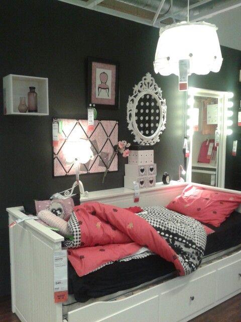 Ikea meidenkamer  Tienerkamers  Pinterest
