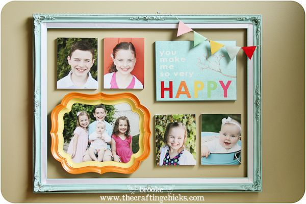 Colorful and whimsical framed gallery wall, a fun gift for Mother's Day by @Brooke Kemp! #marthastewartcrafts #mothersday #plaidcrafts