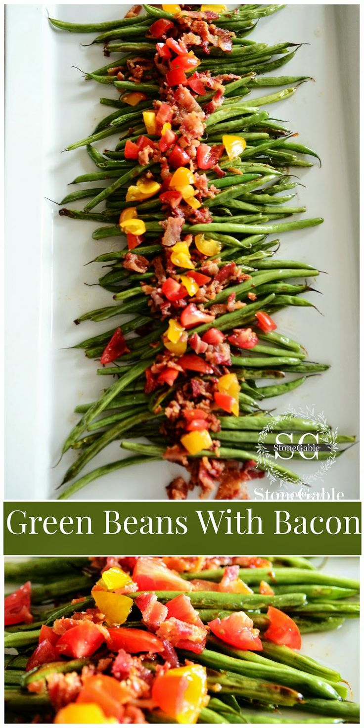 Green beans garlic peppers tomatoes | Emily's eats | Pinterest