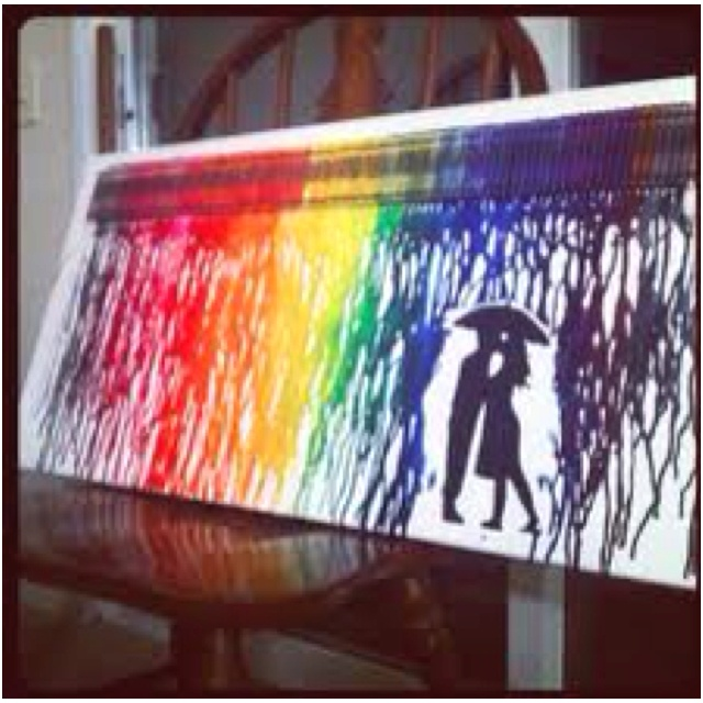 Melted crayon on canvas hrs pinterest for Crayon diy canvas