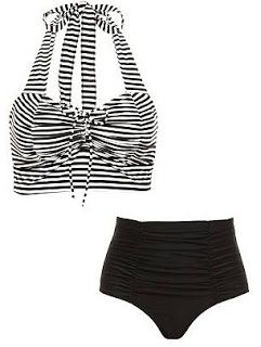 LOLO Moda: Beautiful black & white swimming wear