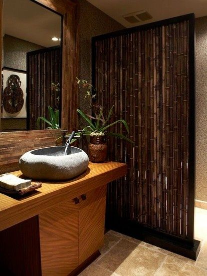 Tropical bathroom decor home sweet home pinterest for Tropical bathroom ideas