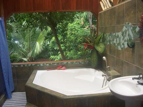 Perfect bathroom for the home pinterest for Jungle bathroom ideas