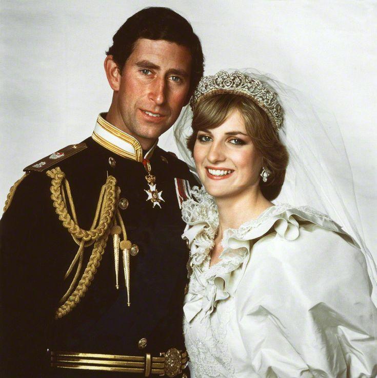 Królewskie śluby - księżna Diana i książę Karol.