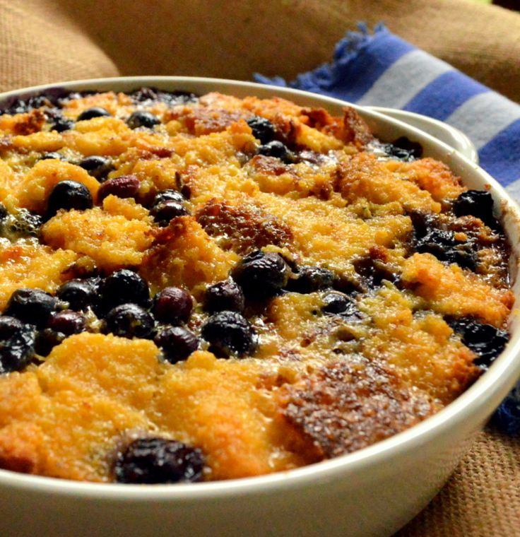 Corn Bread Blueberry Bread Pudding | Sweet tooth | Pinterest
