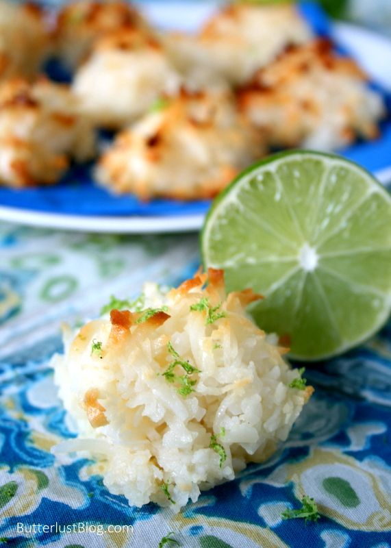 Coconut Lime Macaroons | Desserts | Pinterest
