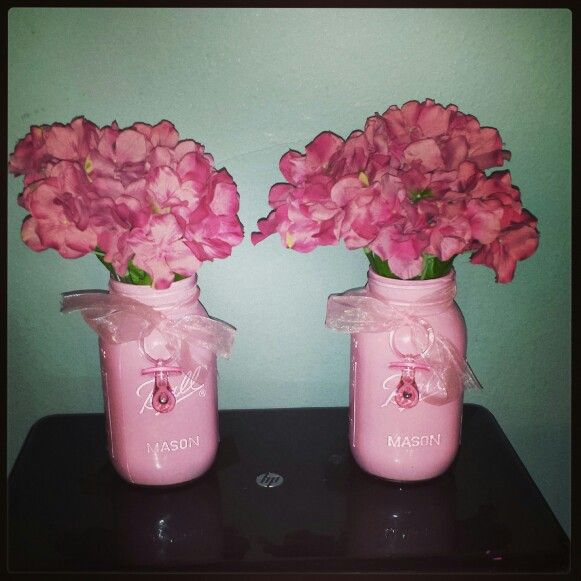 mason jar baby shower centerpieces mason jar baby shower