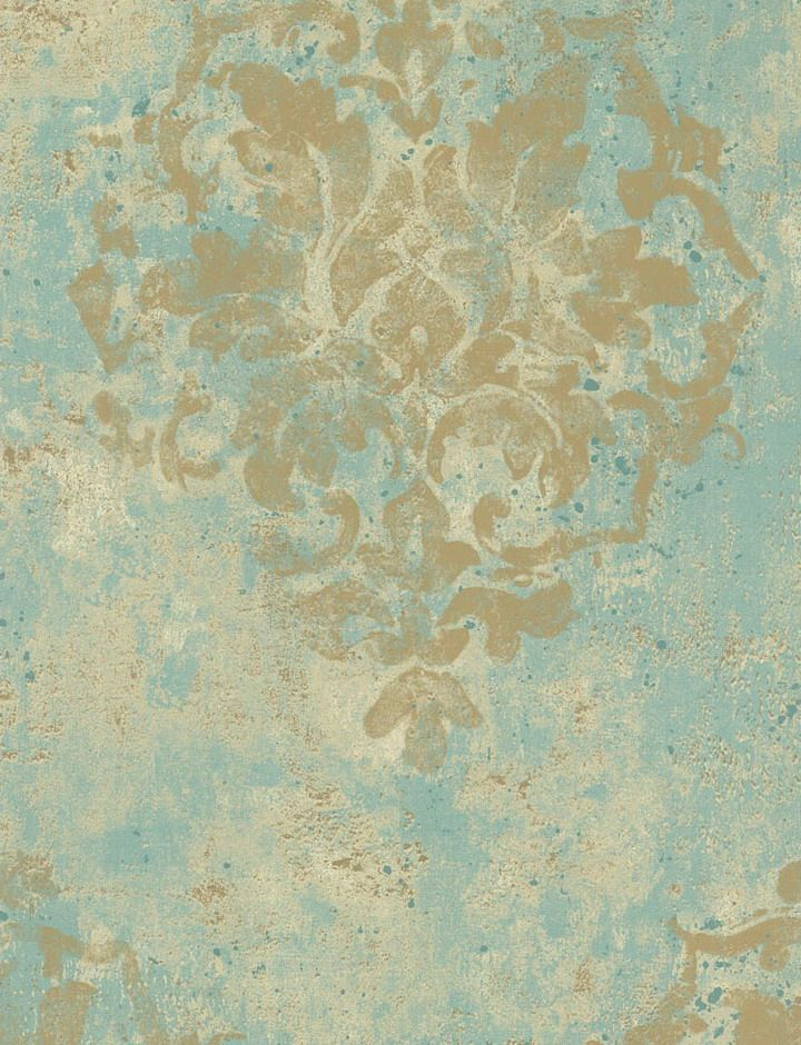 Teal and brown damask wallpaper specs price release for Wallpaper homebase gold
