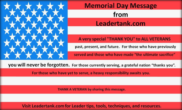 memorial day messages for church