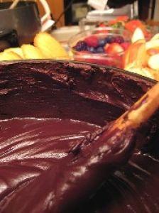 Low-Fat Chocolate Fondue   fondue   Pinterest