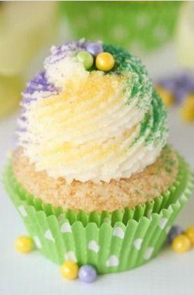 Mardi Gras King Cake Cupcakes | Baking!! | Pinterest