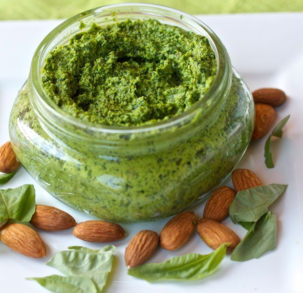 Vegan Powerhouse Kale Pesto--kale, almonds, olive oil, lemon juice ...