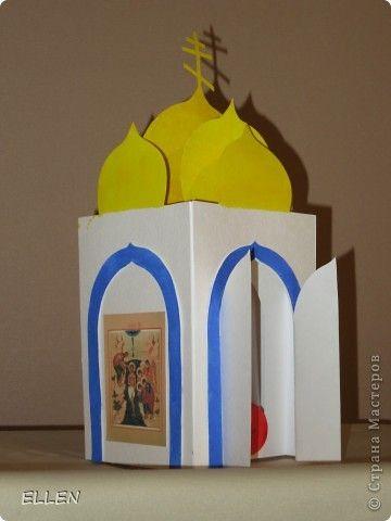 Церковь из цветной бумаги своими руками 6