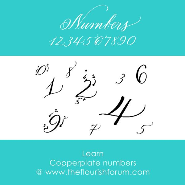 Numbers calligraphy pinterest