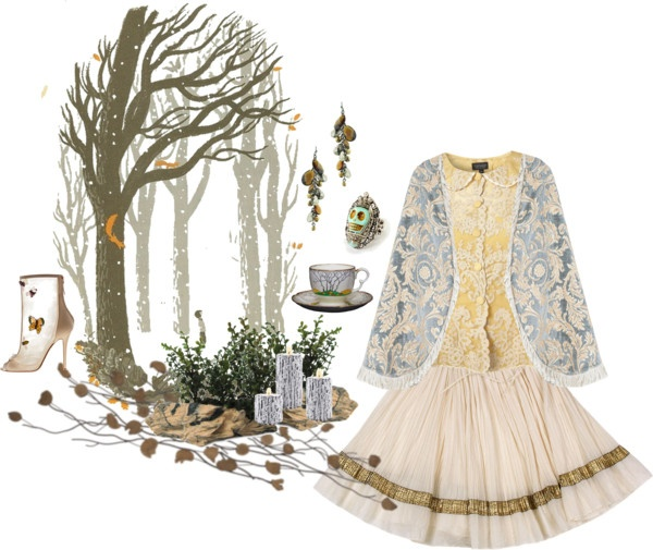 """candlelight tea in a winter wood"""" by nibli liked on Polyvore"""