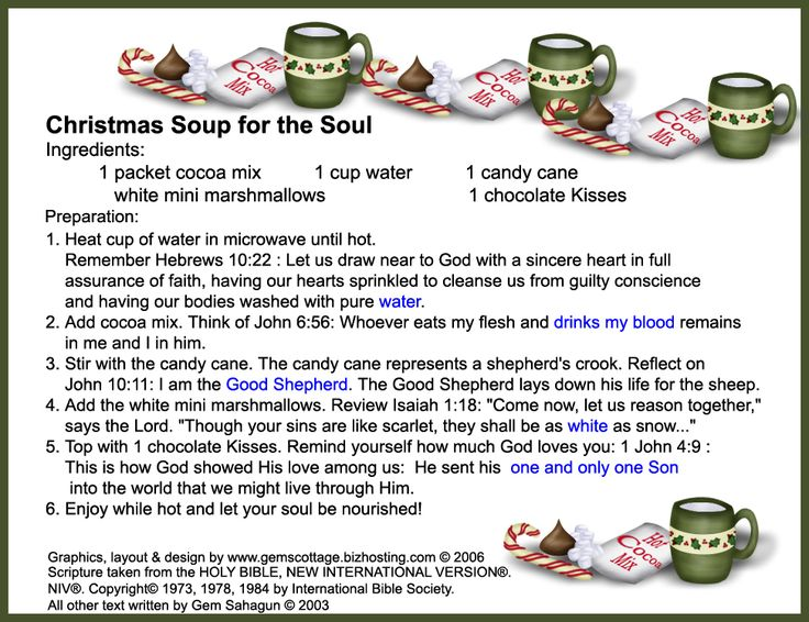 Christmas soup for the soul gift idea | Christmas | Pinterest