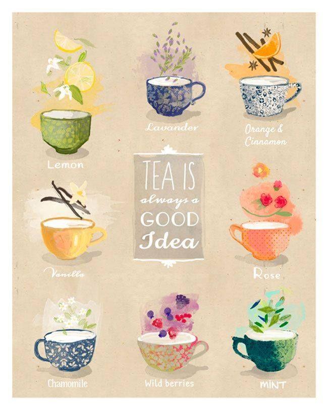 TEA! [Tisanes, actually, but STILL a good idea. #DrinkTea