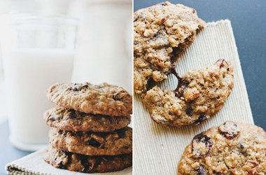 chocolate chip oatmeal cookies with cherries amp pecans punchfork