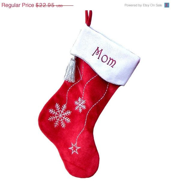 After christmas sale personalized christmas stockings snowflake bling