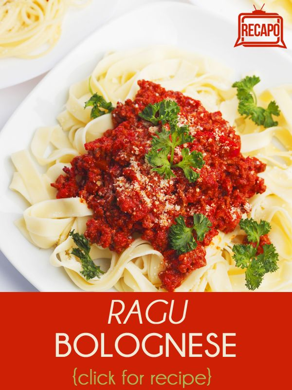 Cee Lo Green recreate a classic dish by serving a Ragu Bolognese ...