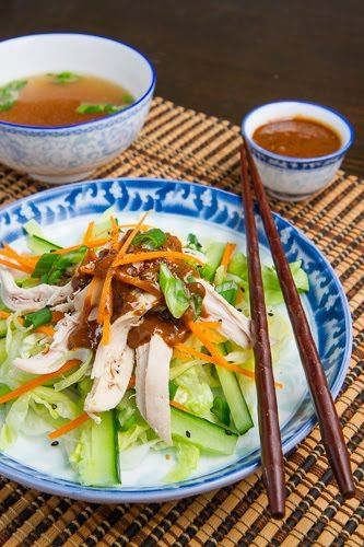 Bang Bang Chicken A Sichuan style chicken salad in a spicy, sweet and ...